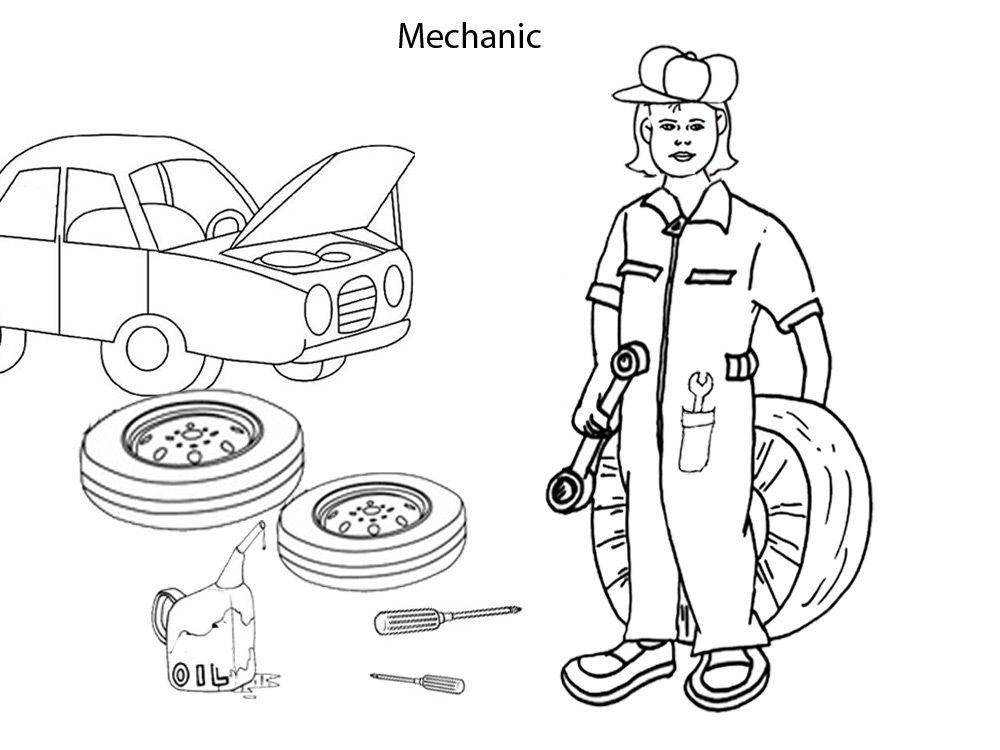 Of A Garage Colouring Pages Sketch Coloring Page