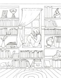 Girls Bedroom Coloring Page Coloring Home