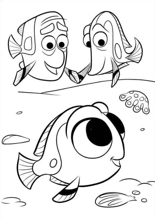 Dory Coloring Pages : coloring, pages, Finding, Coloring
