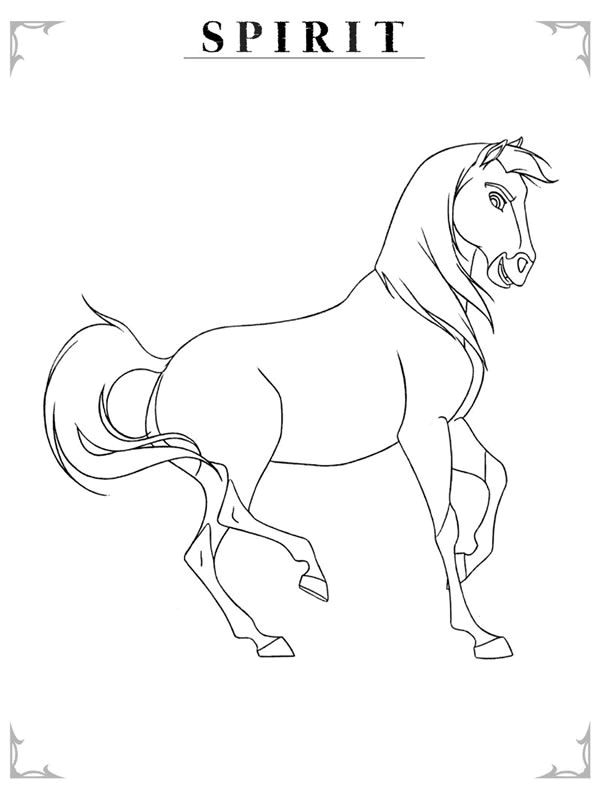 spirit stallion of the cimarron coloring pages # 4