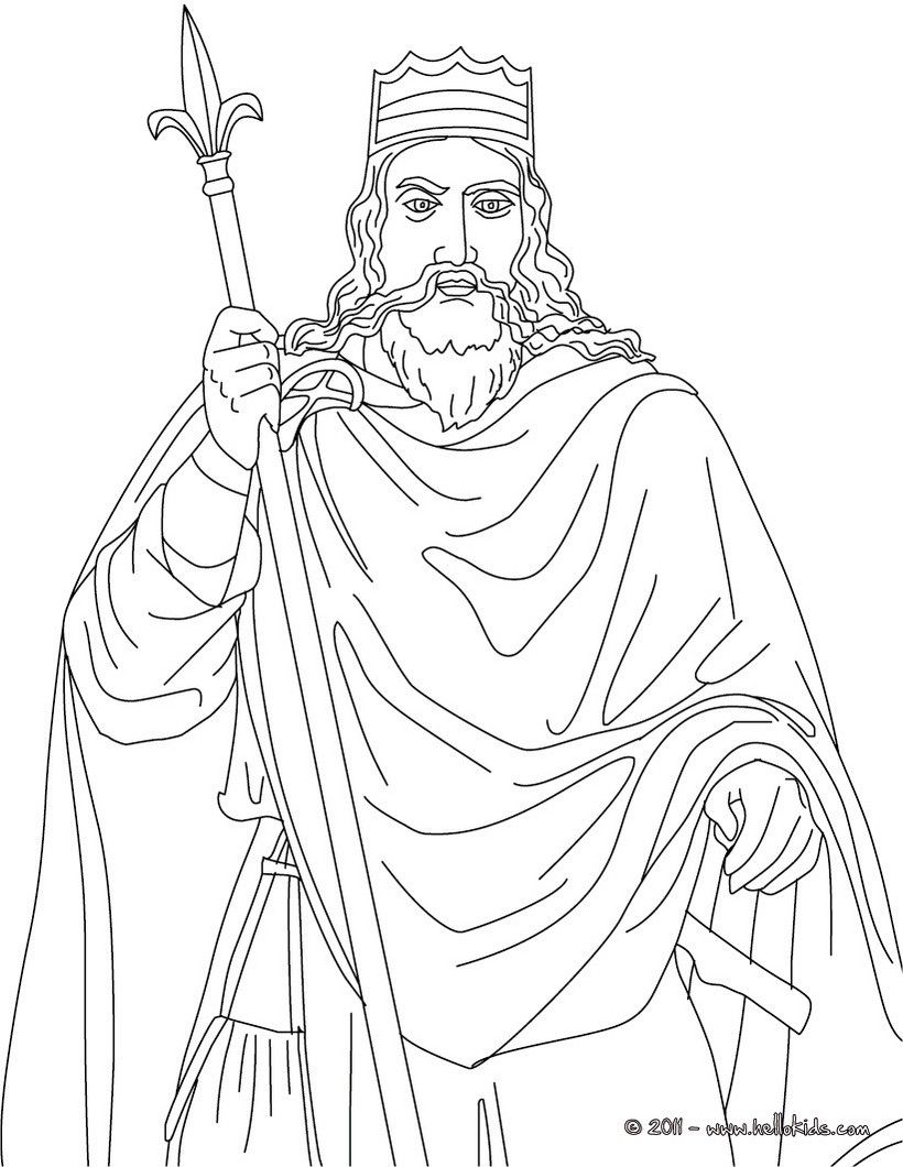 King And Queen Coloring Sketch Coloring Page