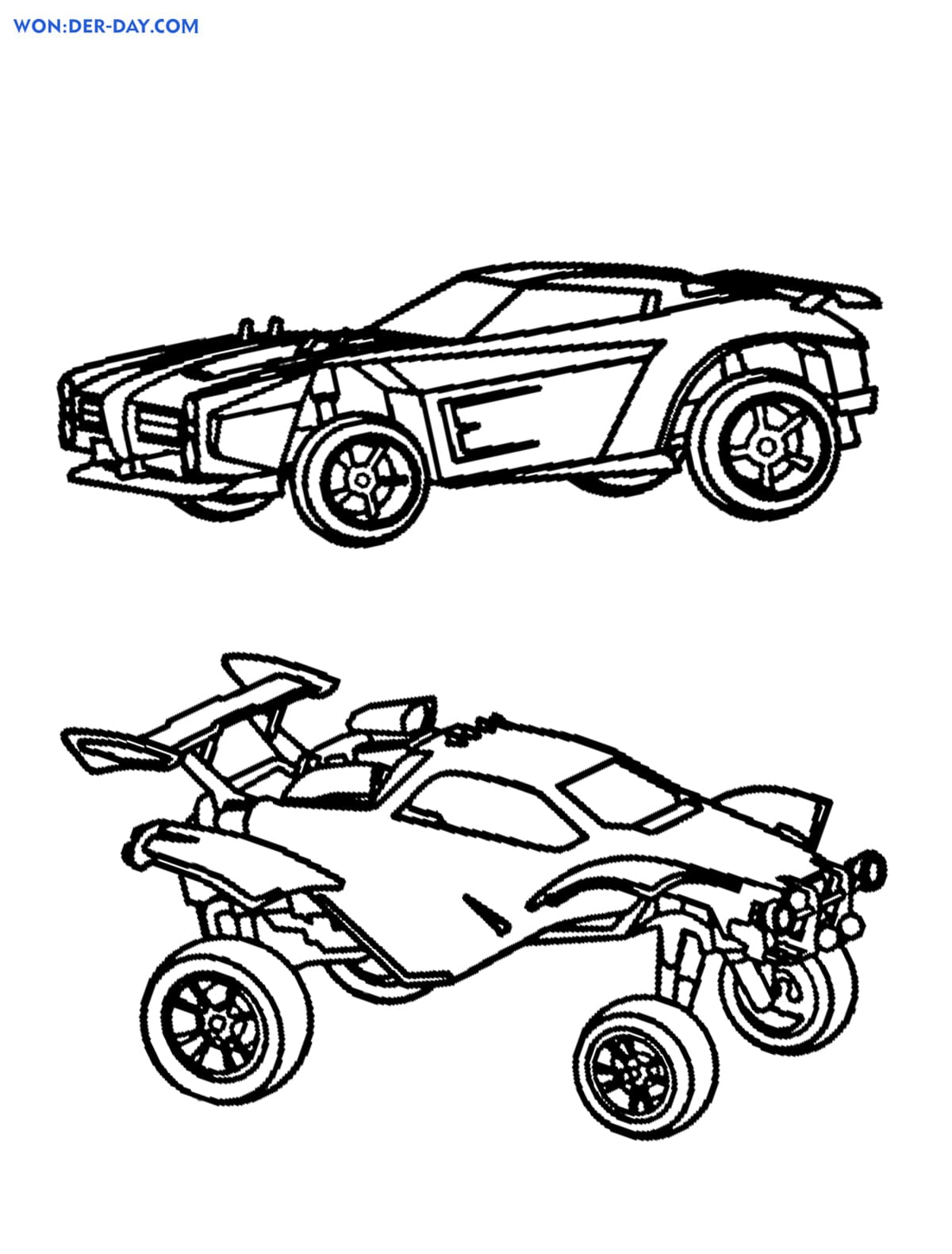 Rocket League Drawing : rocket, league, drawing, Rocket, League, Coloring, Pages, Printwonder-day.com
