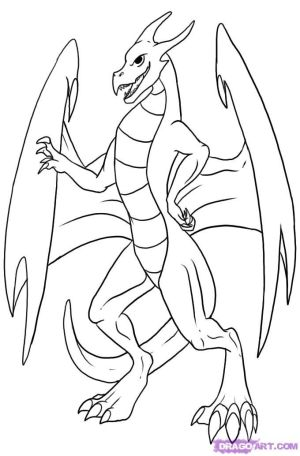 dragon draw anime drawing simple step easy dragons drawings coloring head steps popular dragoart library clipart paintingvalley