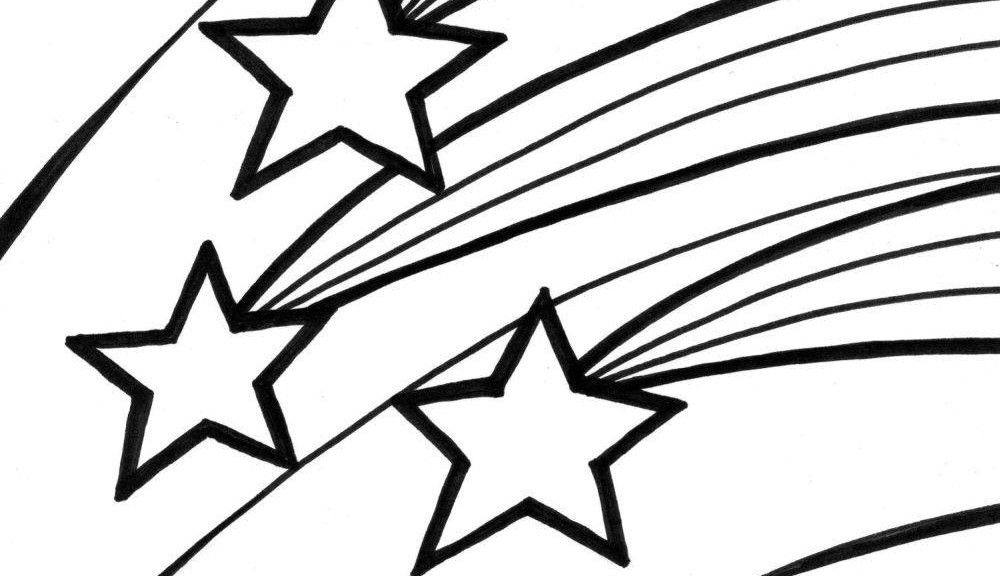 Shooting Star Coloring Page Coloring Home