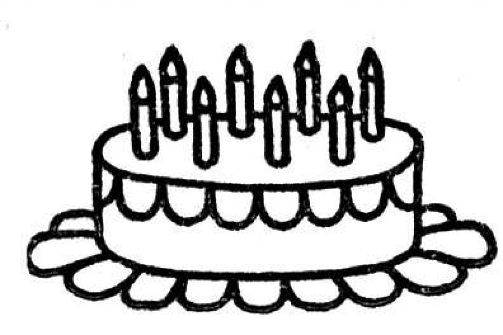 Coloring Pages Of Birthday Cakes Coloring Home