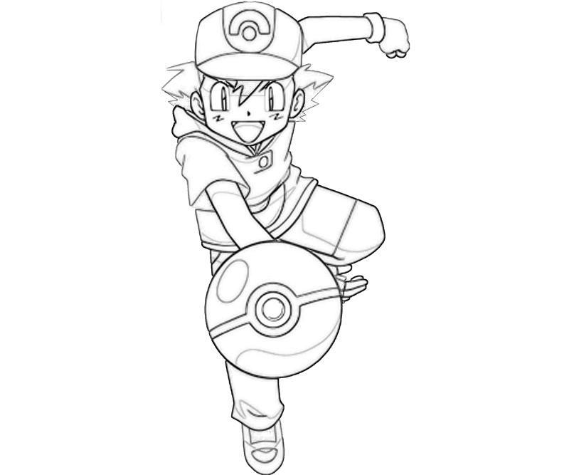 ash of pokemon  coloring home