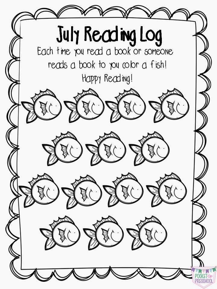 Pocket Of Preschool: At Home Reading Logs & Parent Letter