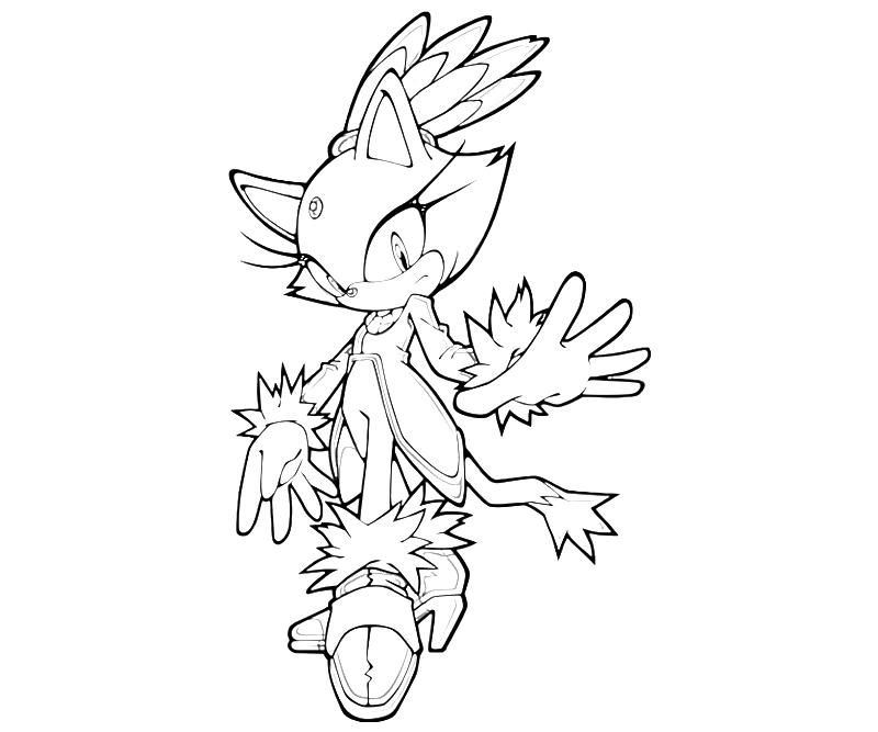 Blaze The Cat Coloring Pages Coloring Home