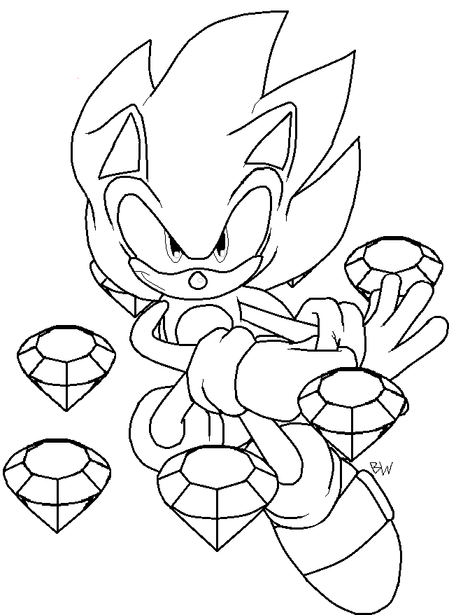 Beautiful Super sonic Coloring Pages to Print | Top Free Coloring...