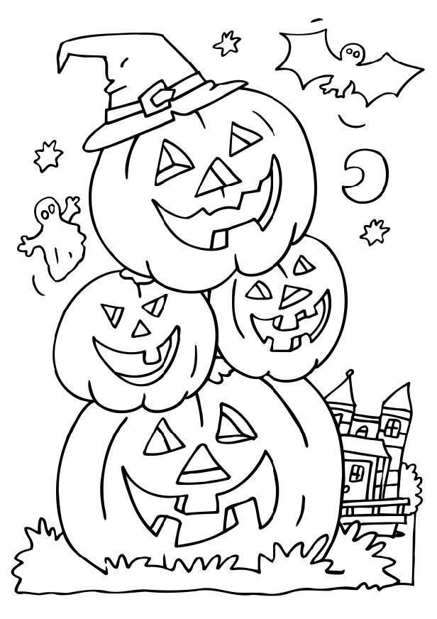 trick or treat coloring page  coloring home