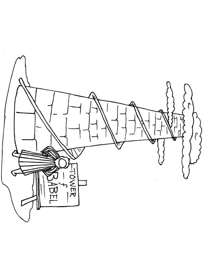 tower of babel coloring page  coloring home