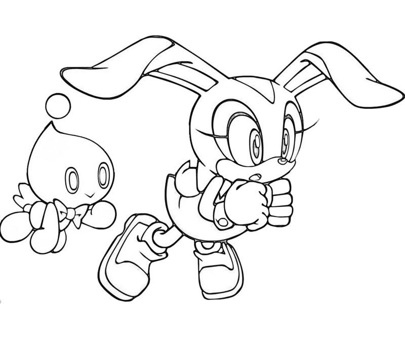 Cream The Rabbit Coloring Pages Sonic Generations Play