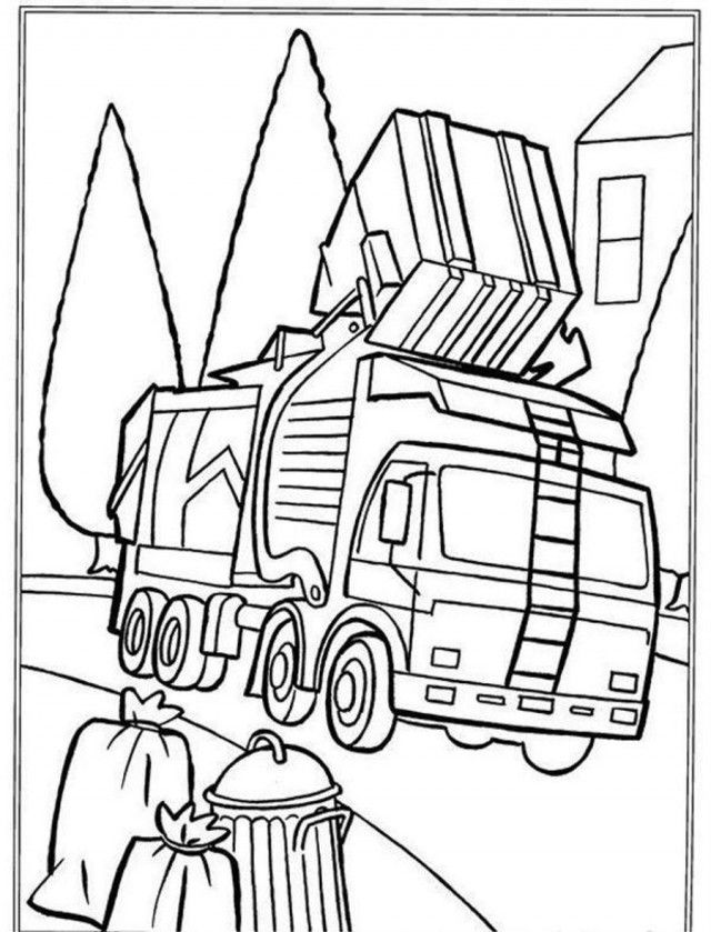 Garbage Truck Coloring Pages : garbage, truck, coloring, pages, Garbage, Truck, Coloring, Coloringplus, 134127