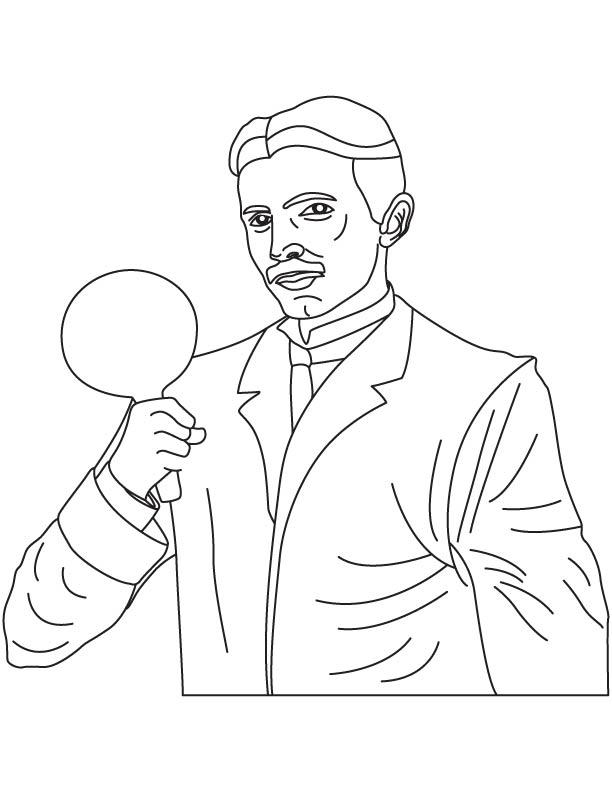 Tesla Coloring Pages : tesla, coloring, pages, Nikola, Tesla, Coloring, Download