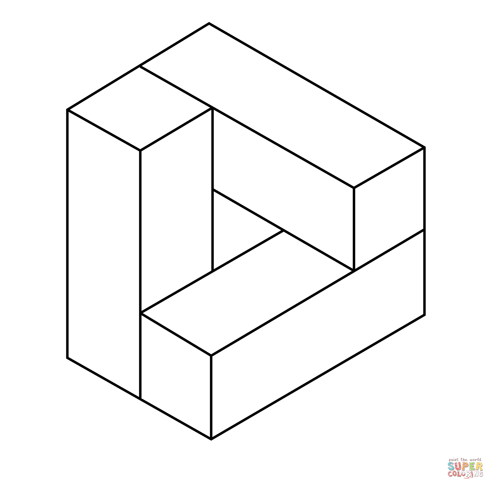 Printable Illusions Coloring Pages