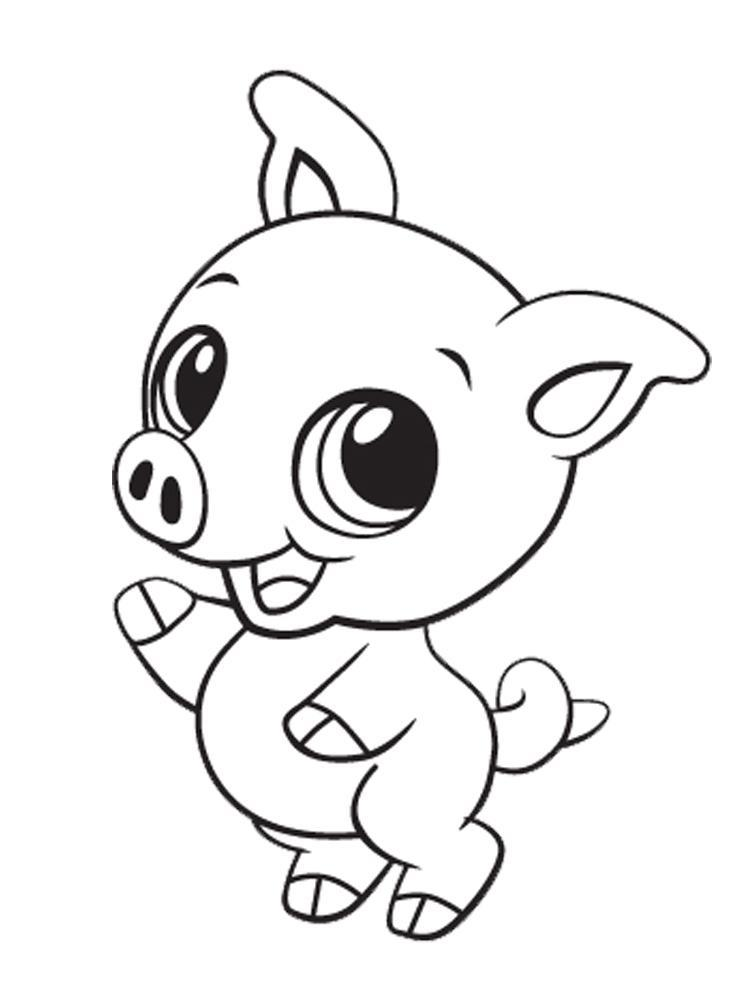 Of Cute Baby Animals - Coloring Pages For Kids And For ... | printable coloring pages of cute baby animals