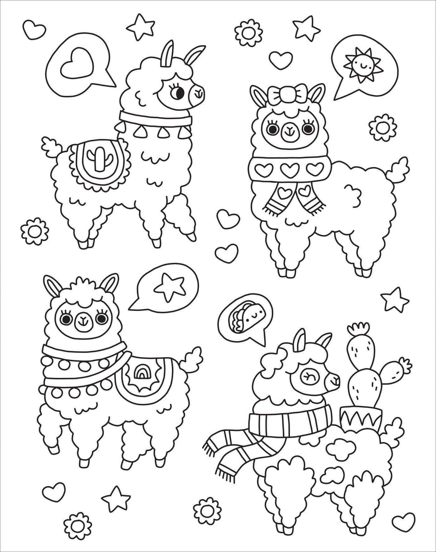 Llamas Coloring Pages