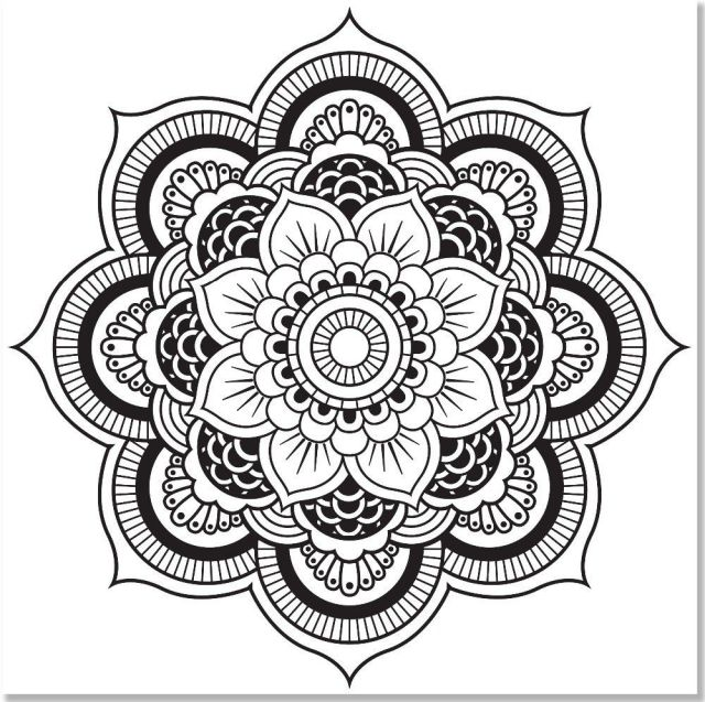Kaleidoscope Coloring Pages For Adults - Coloring Home