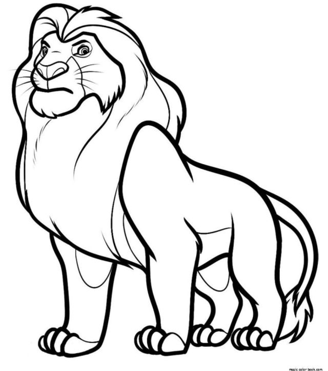 Mufasa Coloring Page - Coloring Home
