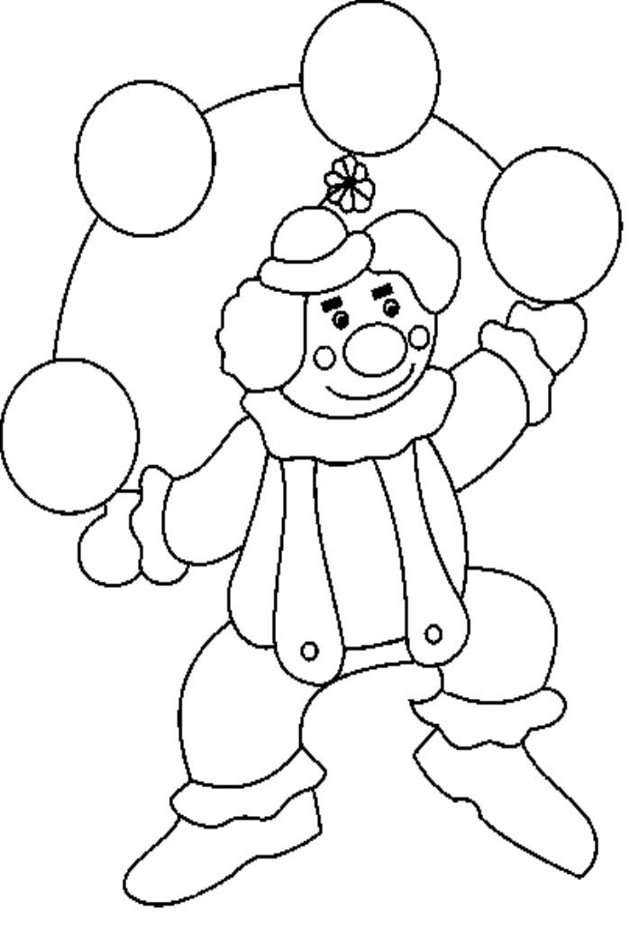 Clowns Pictures To Color - Coloring Home
