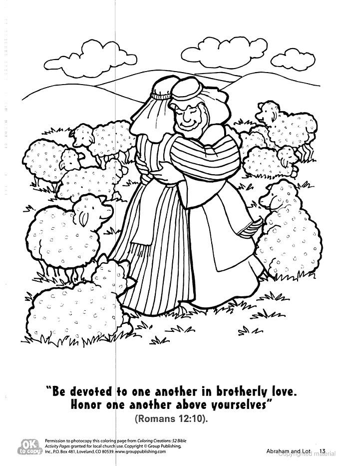 Coloring Abraham And Isaac Coloring Page To Print