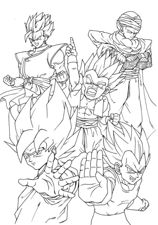 dragon ball gt coloring pages # 3