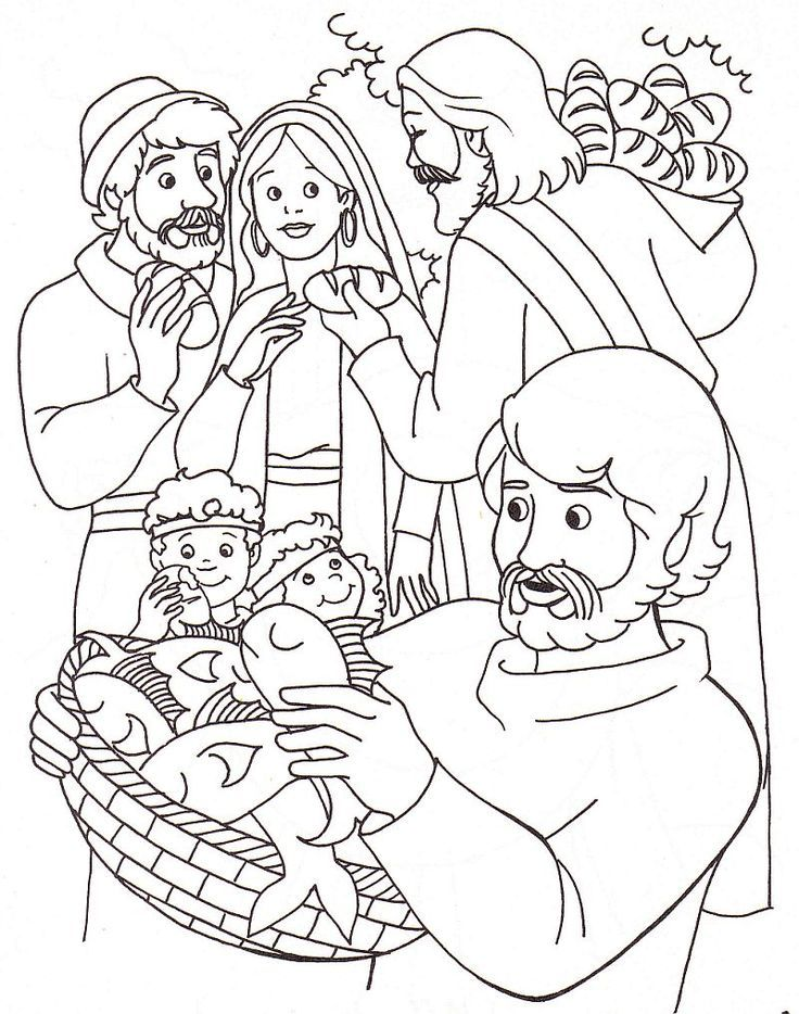 Miracles Of Jesus Coloring Pages : miracles, jesus, coloring, pages, Miracle, Coloring