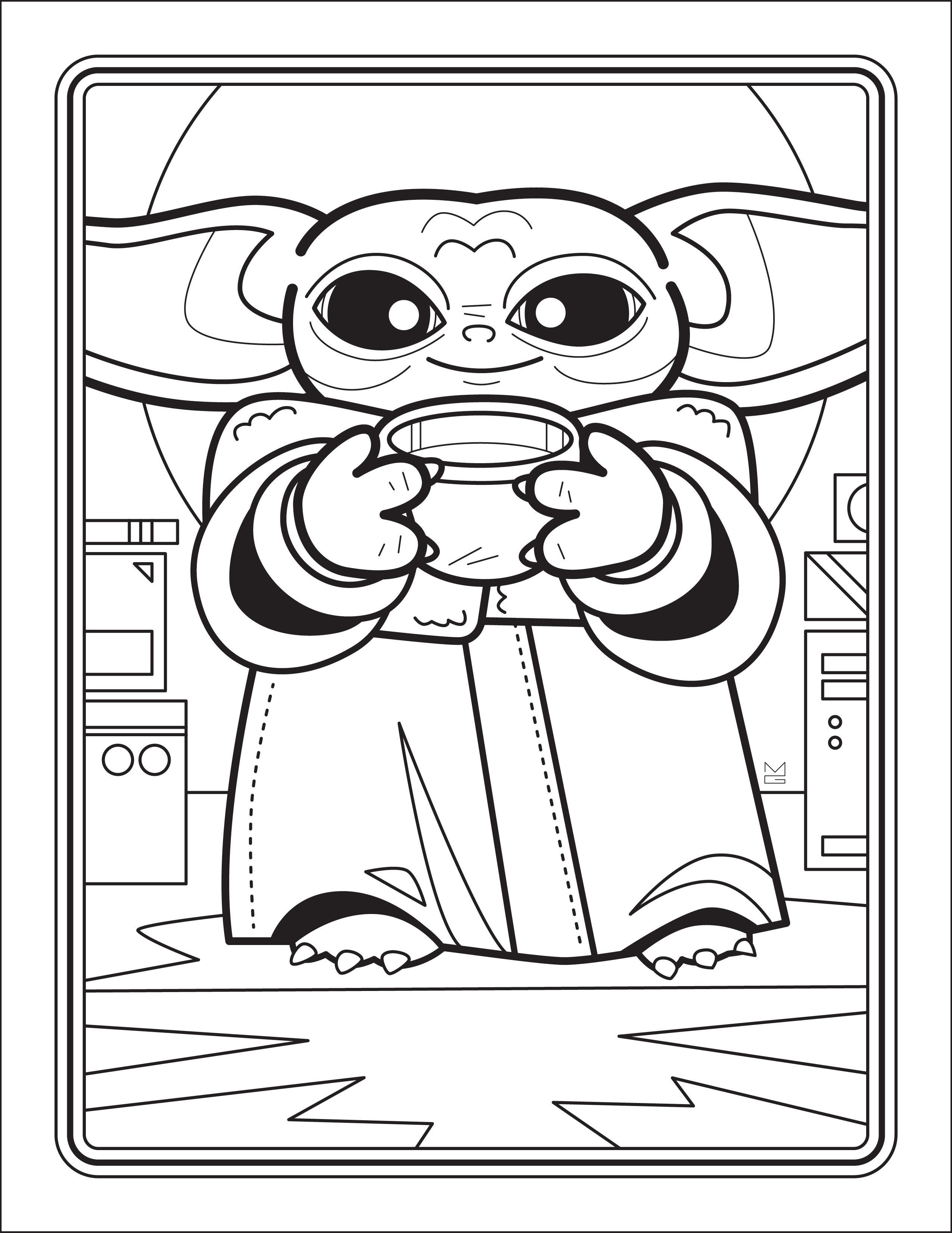 Free Baby Yoda Coloring Pages : coloring, pages, Coloring, Pages