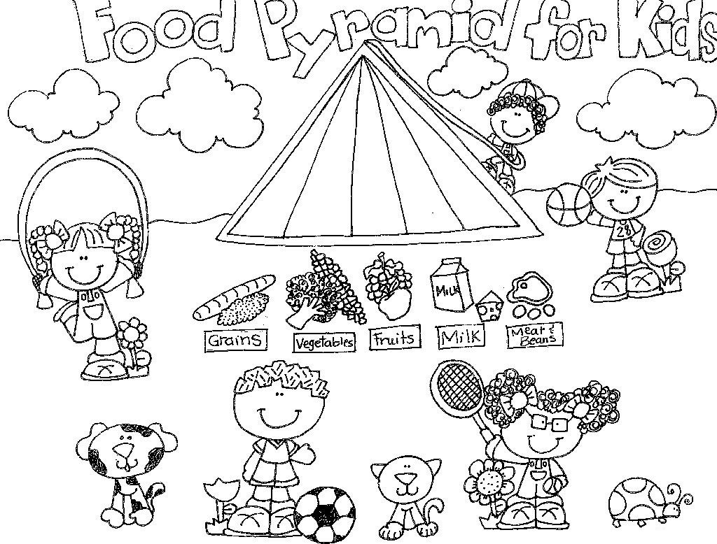 Food Pyramid Coloring Pages