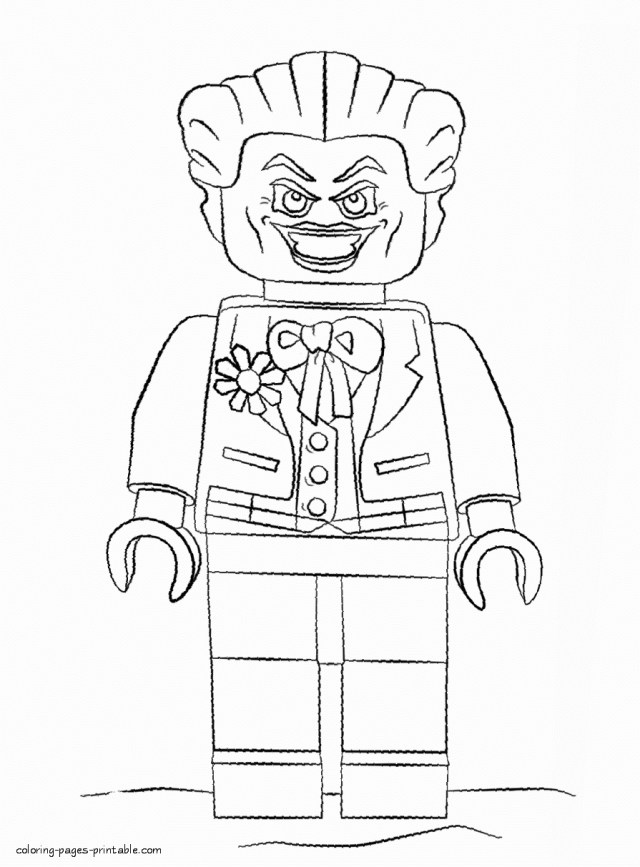 Lego Joker Coloring Pages - Coloring Home