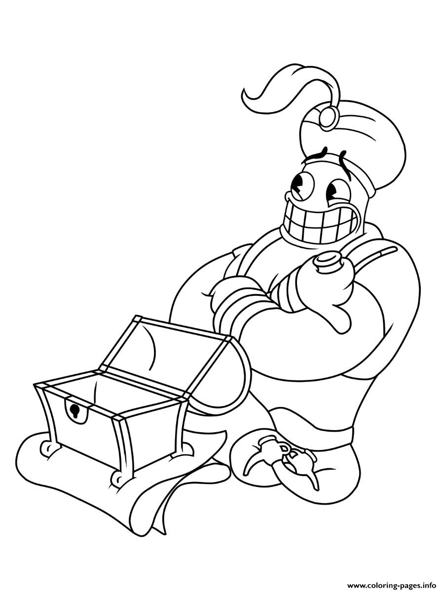 Cuphead Coloring : cuphead, coloring, Cuphead, Aladin, Magician, Coloring, Pages, Printable