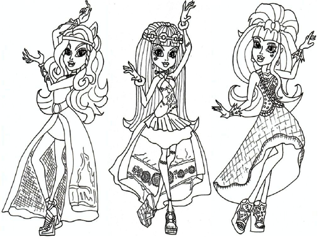 All Monster High Dolls Coloring Pages