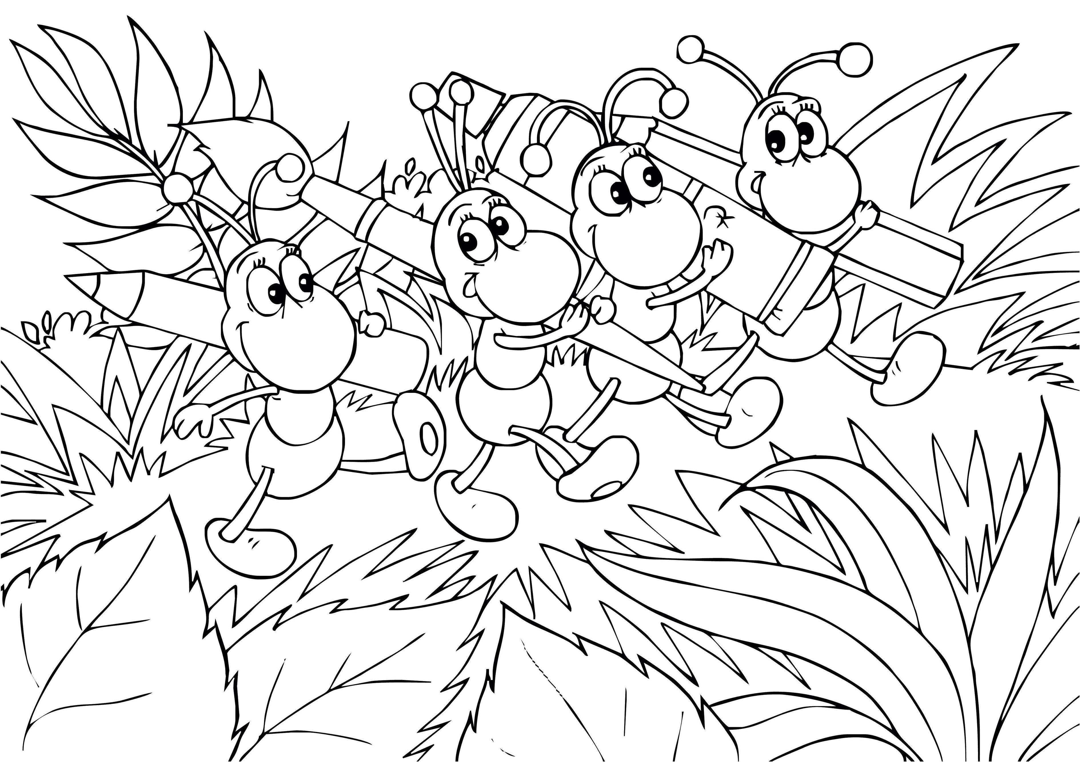 Ant Outline Drawing Ant Outline Coloring Page Cute Ant