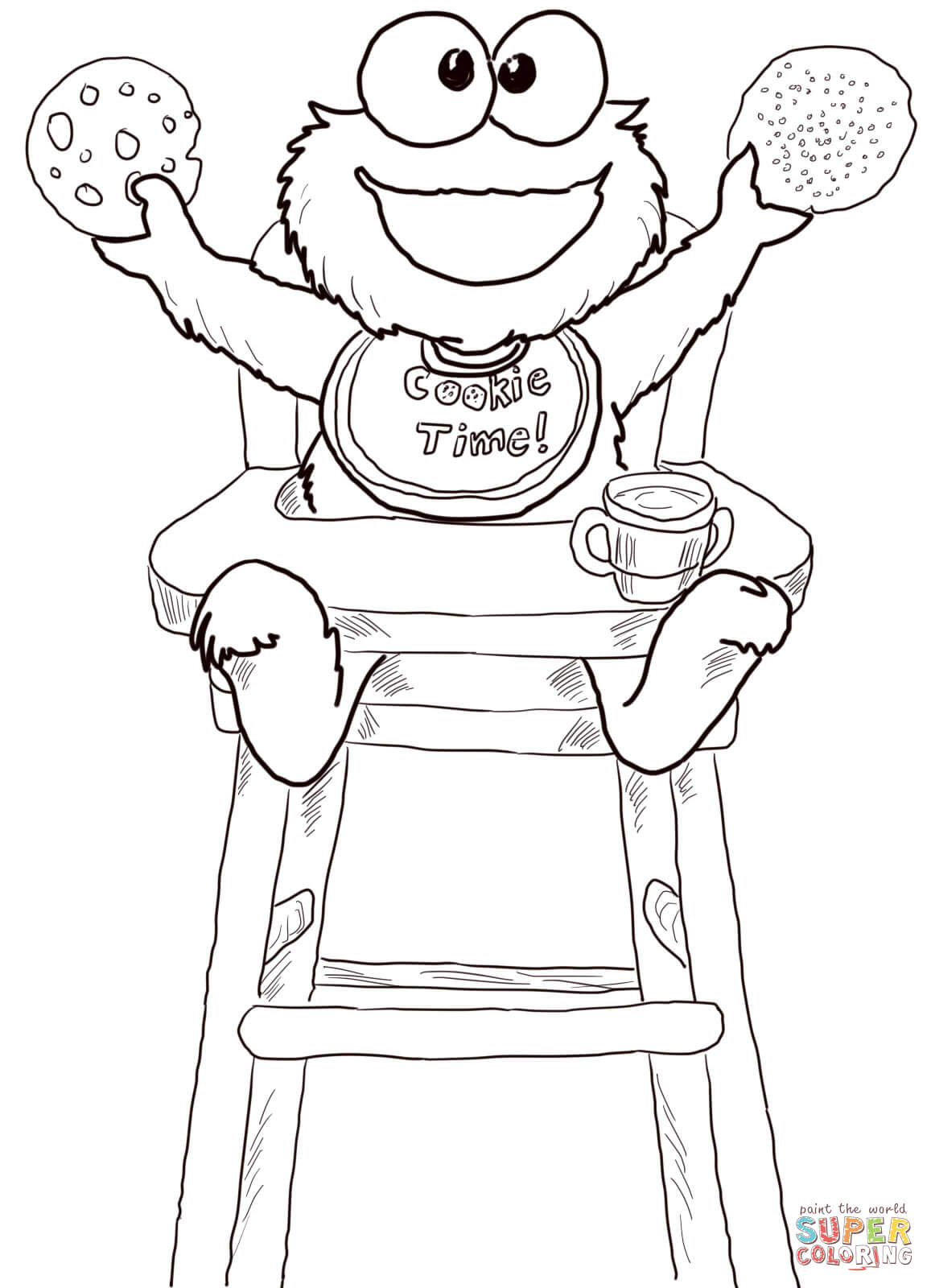 Printable Coloring Pages Of The Cookie Monster