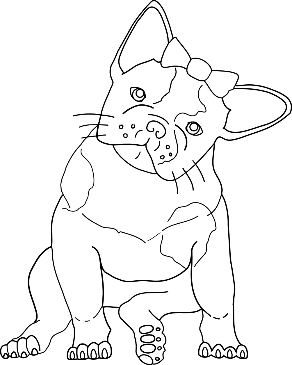 Bull Dog Coloring Page : coloring, French, Bulldog, Coloring, Pages, Masivy, World
