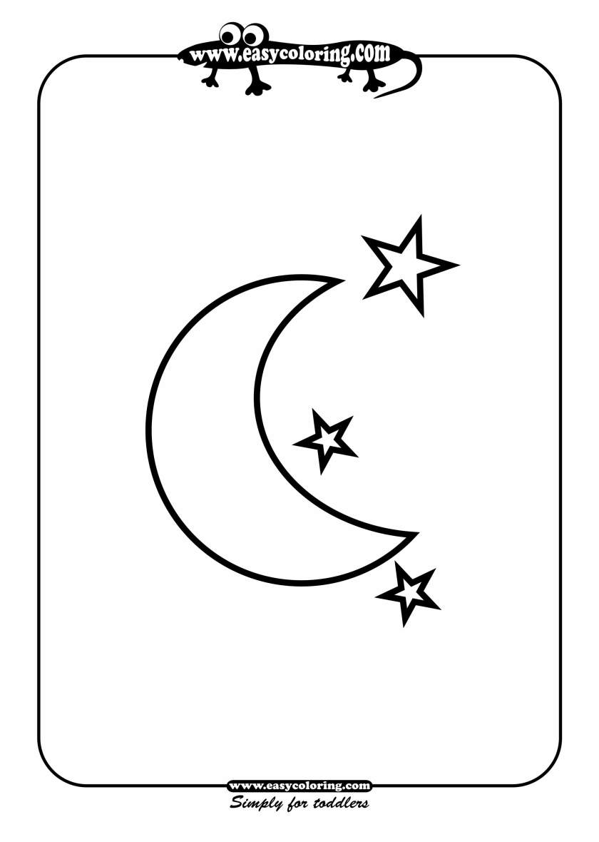 4 best images of half moon and stars printable  crescent