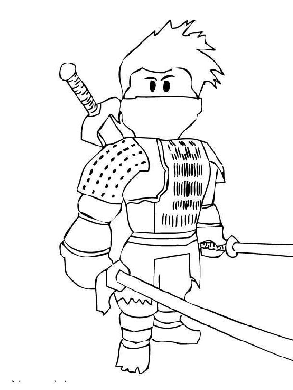 Roblox Coloring Pages Printable : roblox, coloring, pages, printable, Roblox, Character, Printable, Coloring, Pages