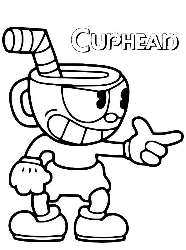 Cuphead Coloring : cuphead, coloring, Drawing, Cuphead, Coloring