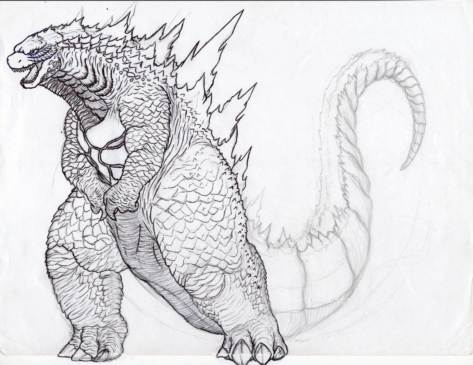 Godzilla Coloring Page