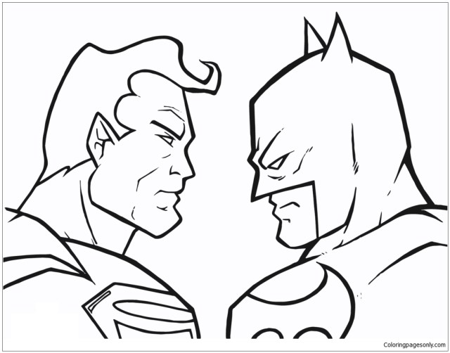 Batman Vs Superman 14 Coloring Page - Free Coloring Pages Online