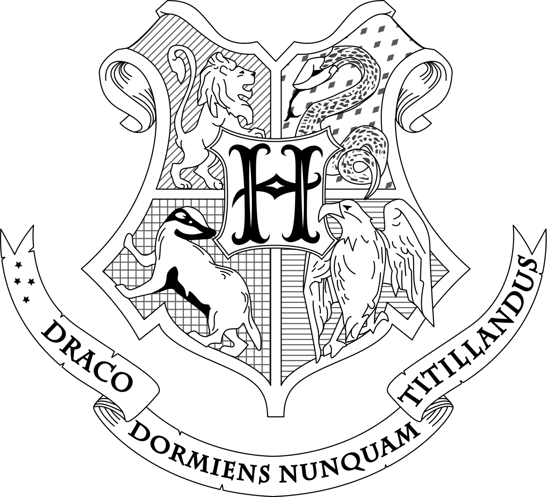 Harry Potter Coloring Pages Hogwarts Crest