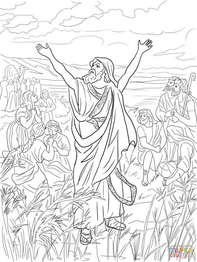 Ezra The Priest Thanks God For His Help Coloring Page  Free
