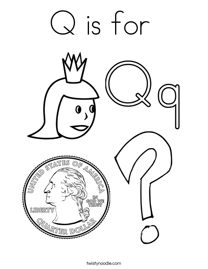 Q Coloring Page : coloring, Coloring, Pages, Letter