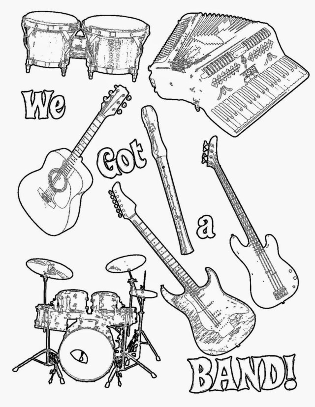 Indie Rock Coloring Book Page - Coloring Home