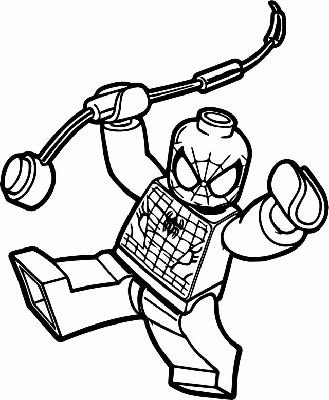 Spider-Man Lego Coloring Pages - Coloring Home