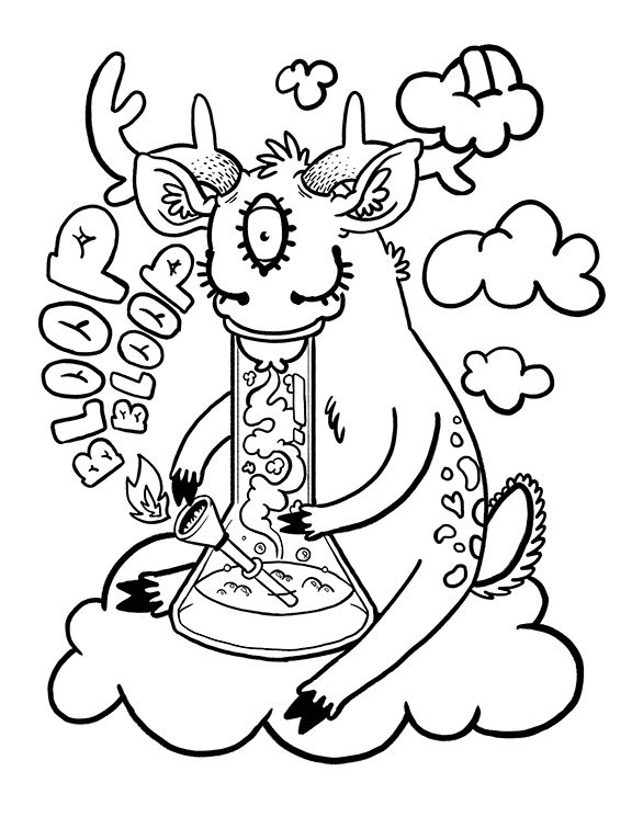 Weed Colouring Pages : colouring, pages, Cannabis, Coloring, Pages