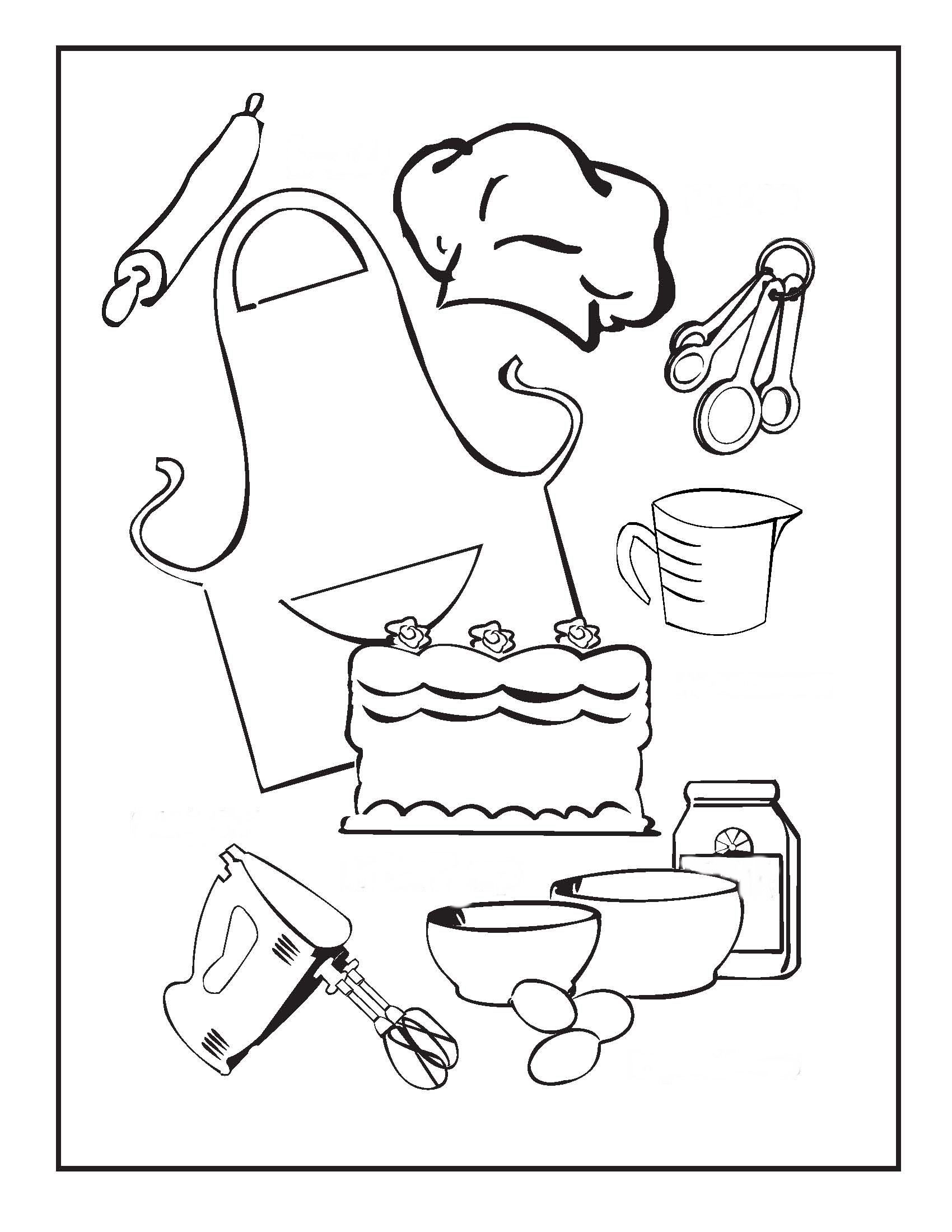 12 Baking ideas   coloring pages, coloring books, coloring pictures
