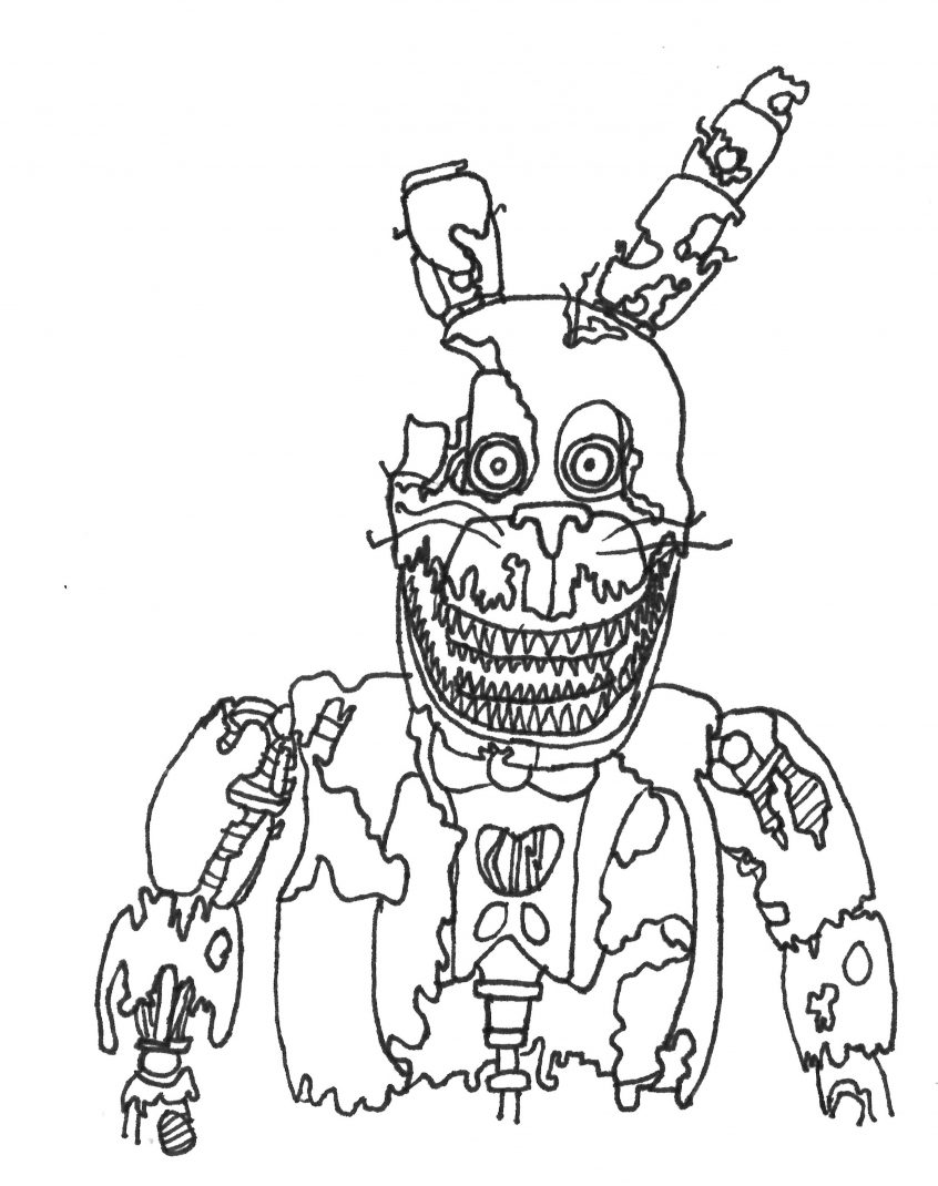 Fnaf Coloring Pages Withered Bonnie : coloring, pages, withered, bonnie, Coloring, Pages