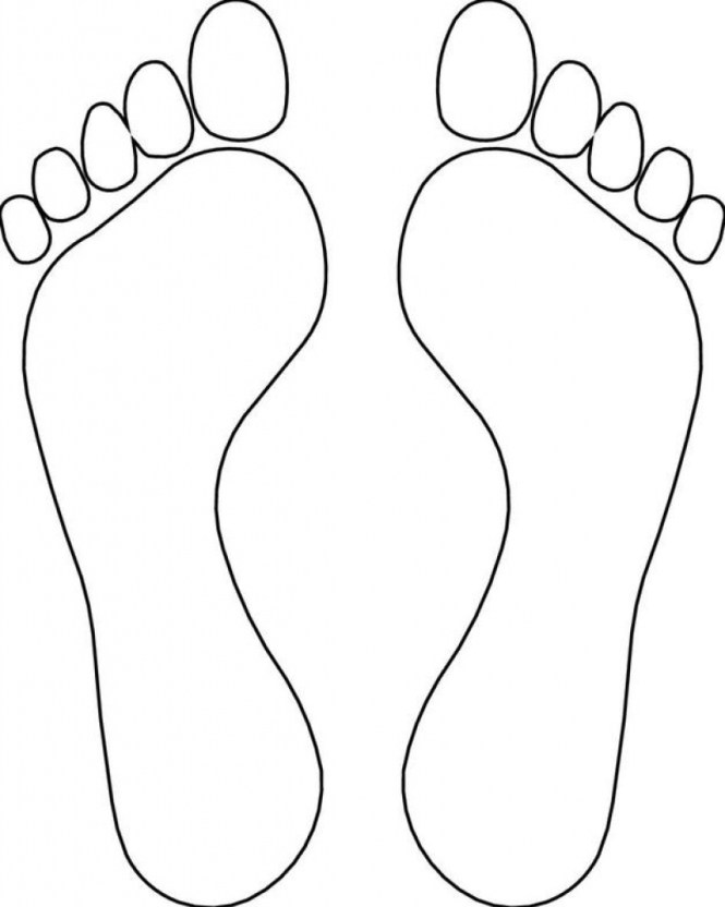 Footprint Coloring Pages Ideas