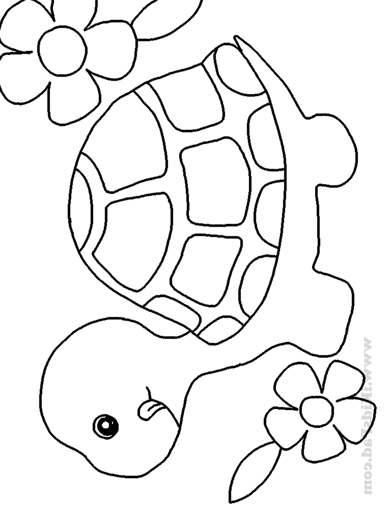 Cute Baby Animal Coloring Pages To Print - Coloring Home | colouring pages baby animals